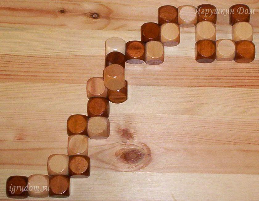 Схема как собрать кубик змейку