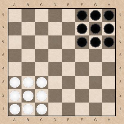 Как играть в уголки шашками