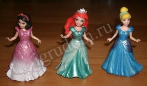 Принцессы Диснея: Белоснежка, Ариэль, Золушка