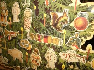 Винтажная картонная елка