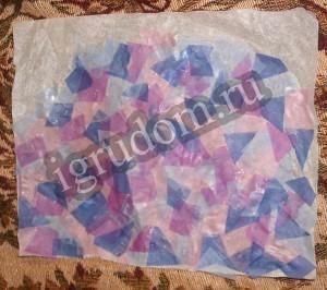 Мозаичное панно из цветной кальки
