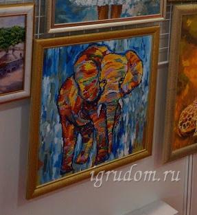 Слоники на выставке