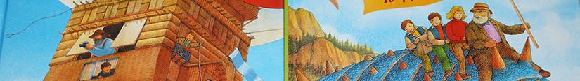 Летающий дом и путешествие к динозаврам.